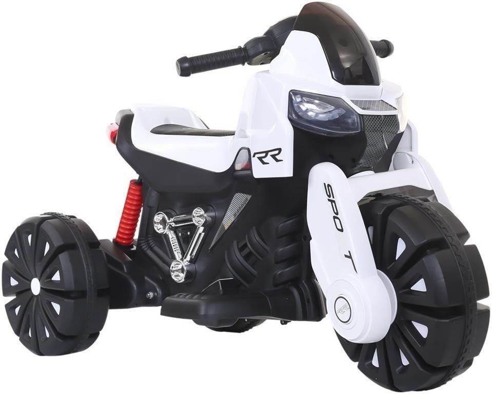 motor dla dzieci akumulator trójkołowy biały