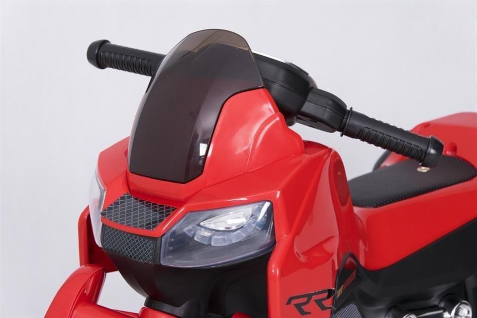 motor dla dzieci akumulator trójkołowy czerwony