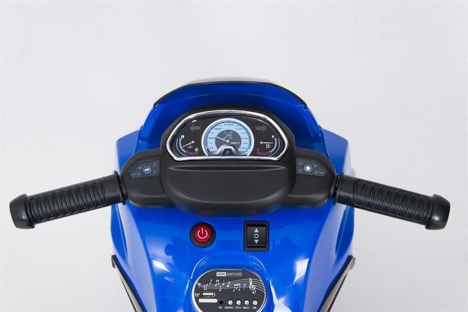 motor dla dzieci akumulator trójkołowy niebieski