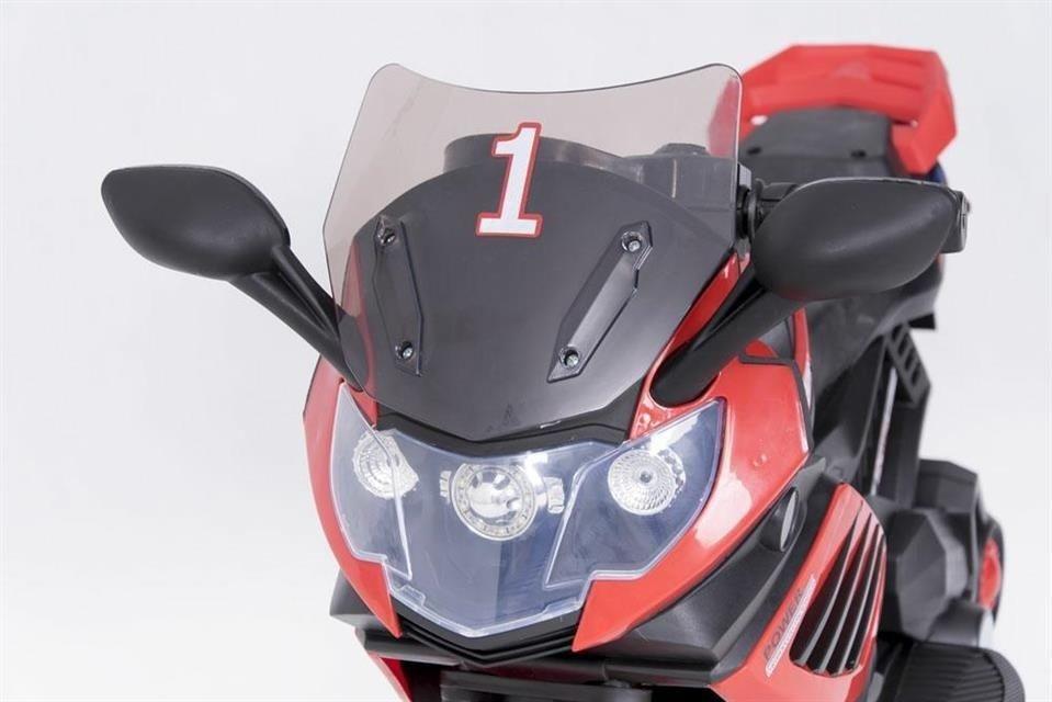 motor dla dzieci akumulator czerwony