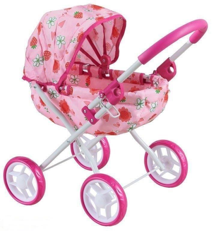 wózek gondola dla lalki dla dziewczynki różowy gondola